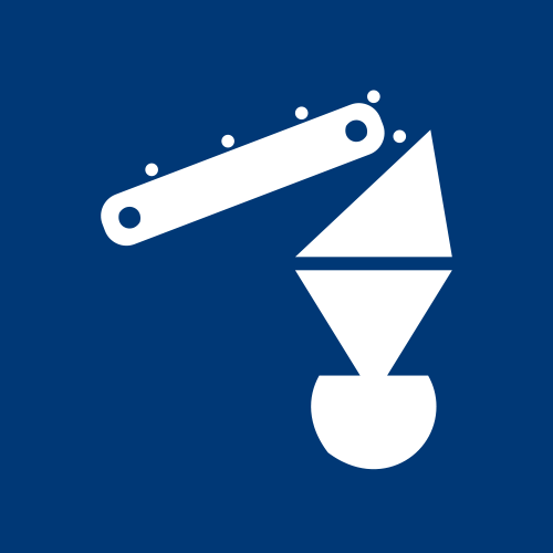 Graphic for Equipment representation - Knelson Concentrators in white on a blue background