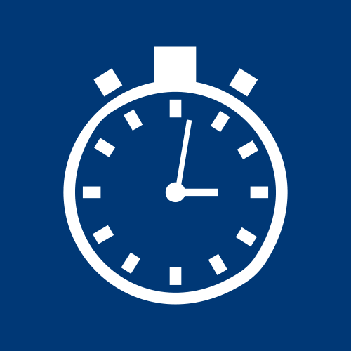 graphic for 'Routine testing for optimising and tracking process efficiency' in white on blue background