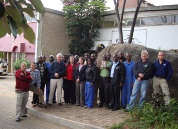 Image of the team at Peacocke and Simpson during 25 years anniversary