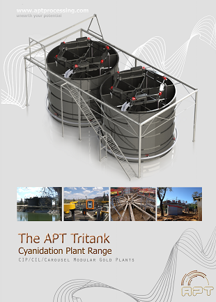 Image of brochure front cover for APT Tritank for gold leaching