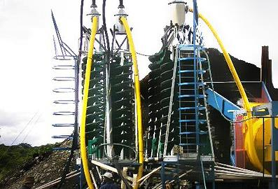 image of a large spiral structure for gravity recovery of minerals