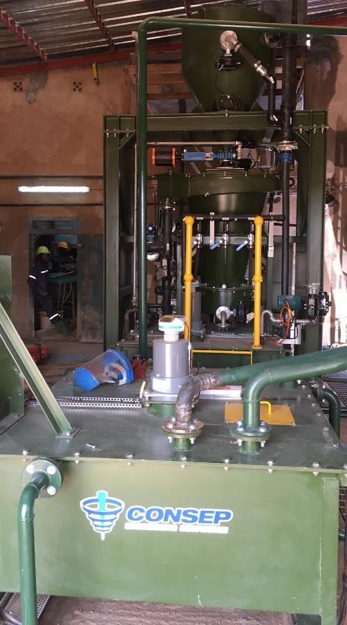Consep Acacia reactor installed at Guiro Gold Mine